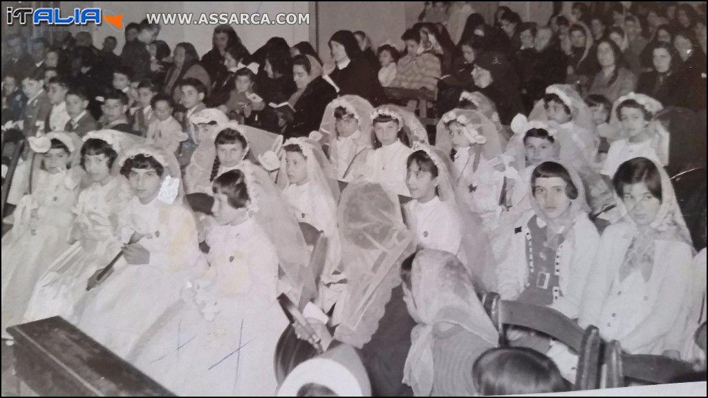 PRIMA COMUNIONE ANNO 1962
