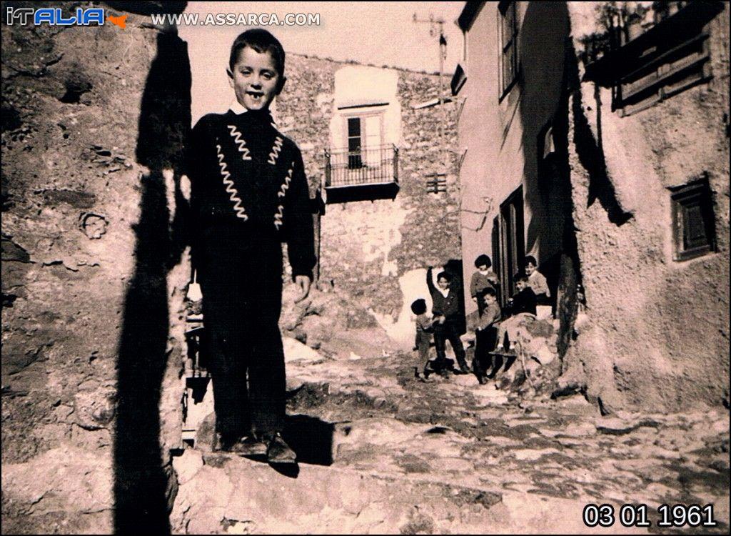 Via Croce di Pietra nel 1961