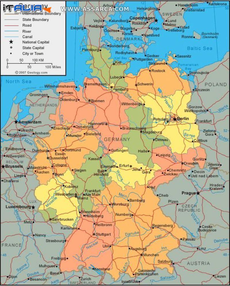 Cartina della Germania