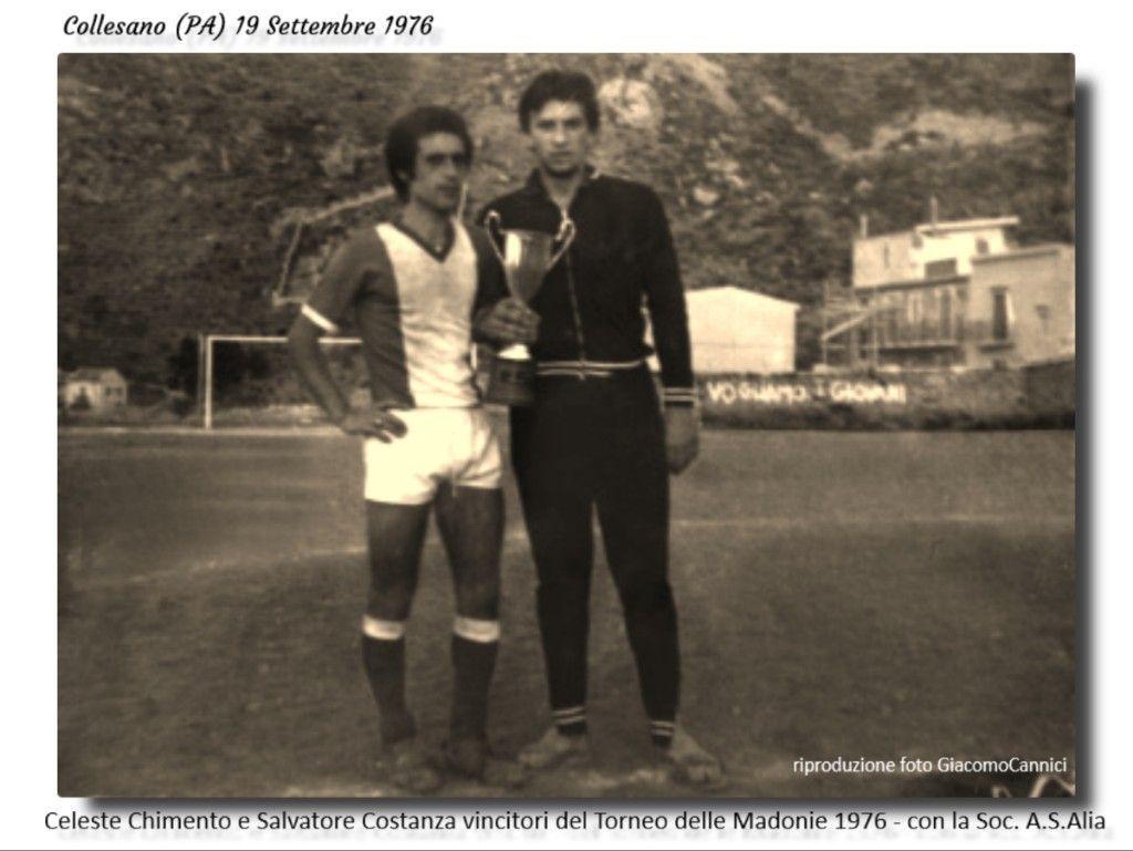 Celeste Chimento e Salvatore Costanza vincitori del Torneo delle Madonie 1976 con la Soc. A.S. Alia