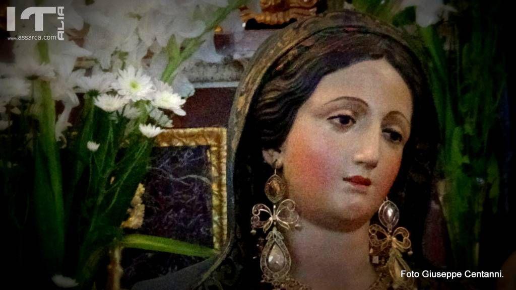 Il volto di Maria.