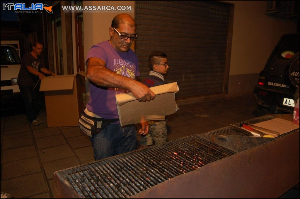 "Cena "" arrusti e mangia "" Luglio 2014"