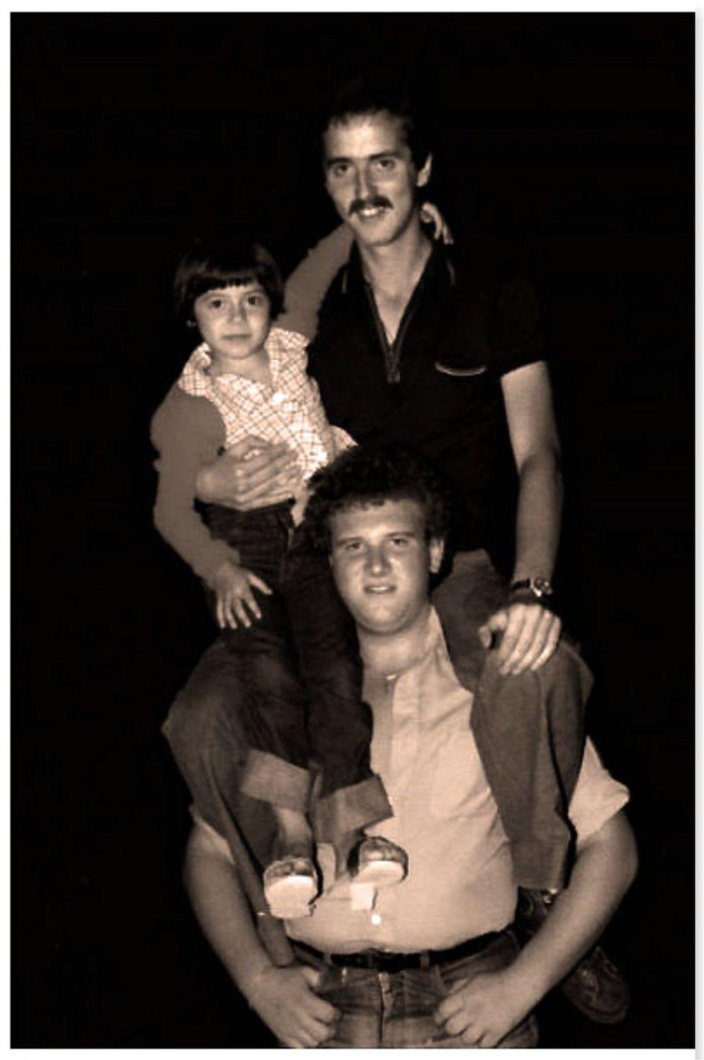 Nel 1975 con Giada e Franco