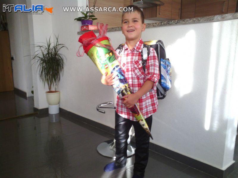 francesco Ganci il suo primo giorno di scuola  a Westerstetten