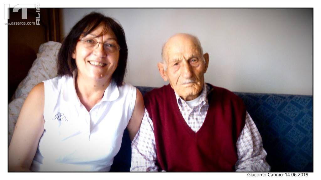 Teresa Miceli con lo zio Giuseppe