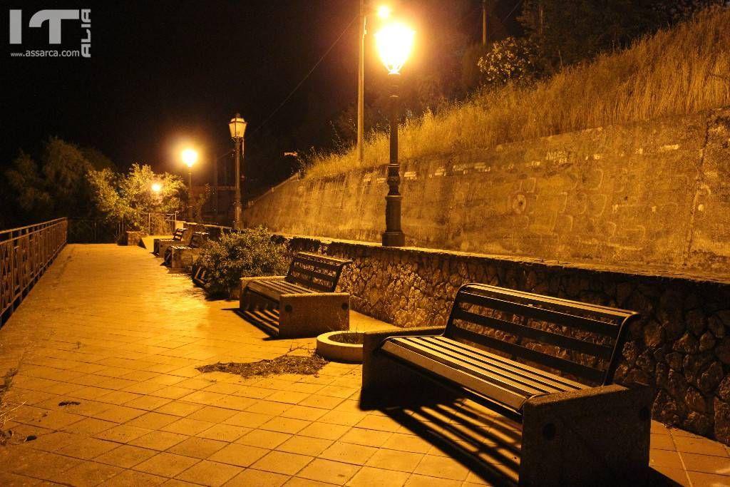 Alia at night.