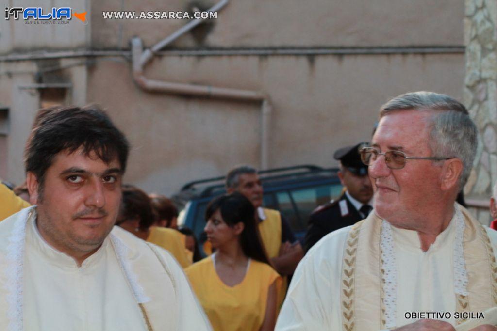 Padre Nino Vicari e Padre Cosimo D`amico