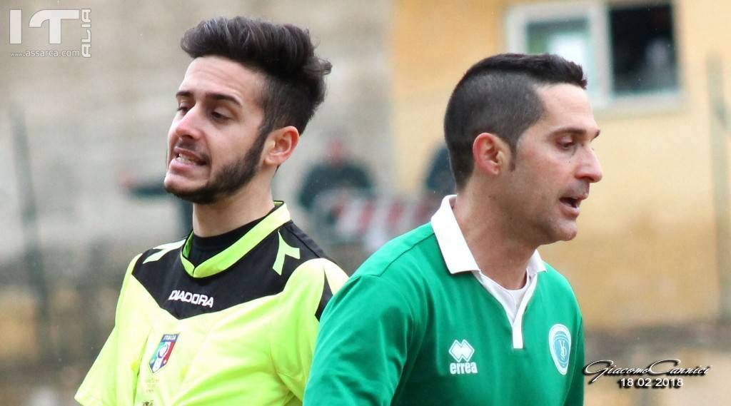 Cosimo Panepinto e l`Arbitro Sanfilippo - Gara: Vallelunga - Campobello