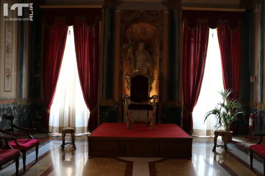 La sala del vescovo di Cefalù