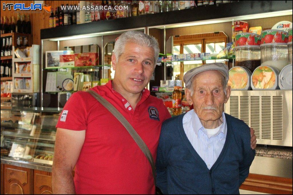 io con il 95 enne Giuseppe Dioguardi