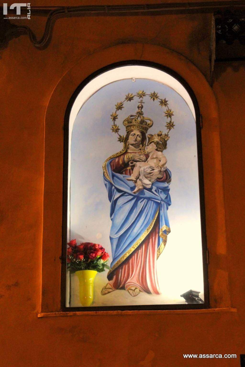 Dipinto della Madonna delle Grazie,realizzato da Nino Iovino.