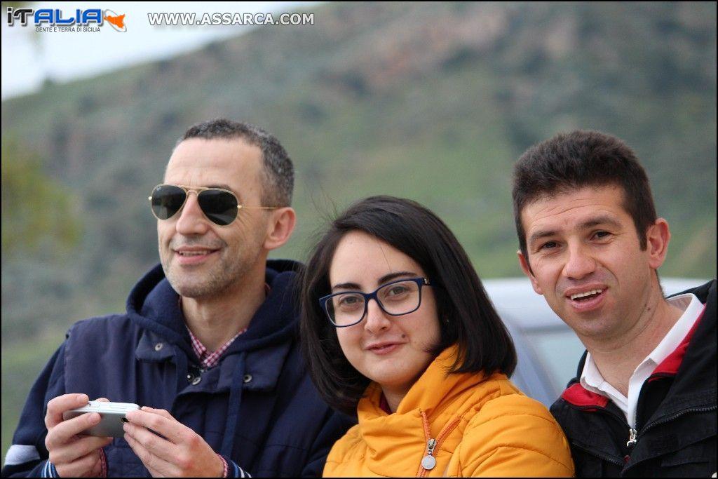 Tre grandi amici,Vincenzo,Sabrina e Gaetano  Alia 2 Aprile 2016