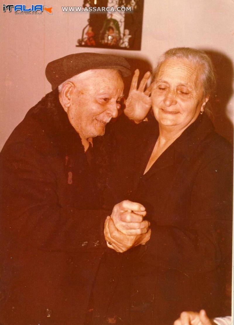 Bernardo Seragusa con la figlia Maria