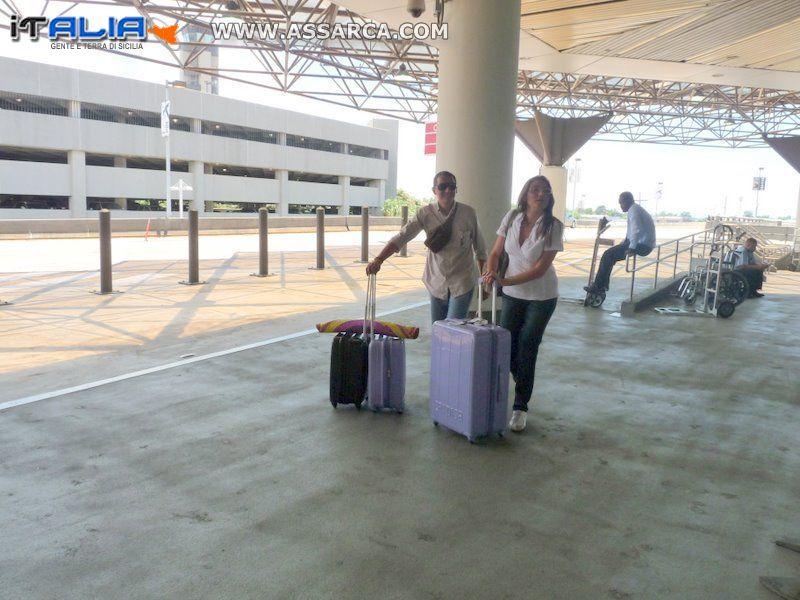 Lia e Rosolino Ortolano  arrivano a New Orleans,Louisiana
