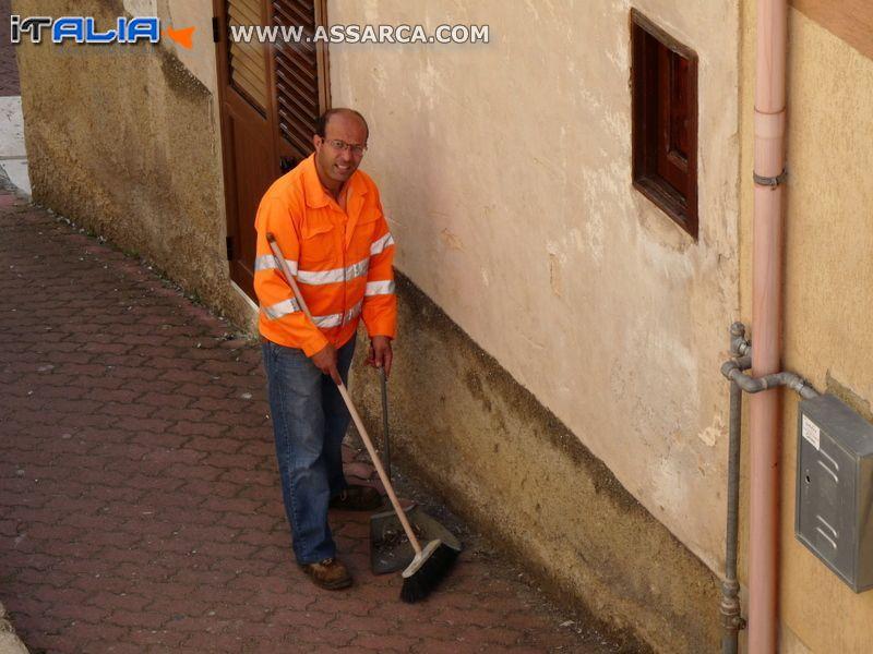 Mario Fricano al lavoro