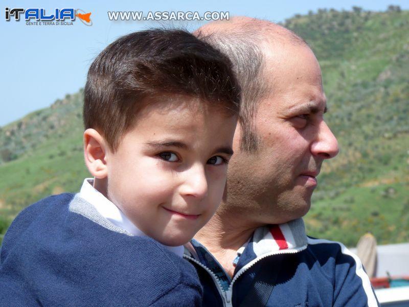 Grabriele Sangiorgi con papà Luciano