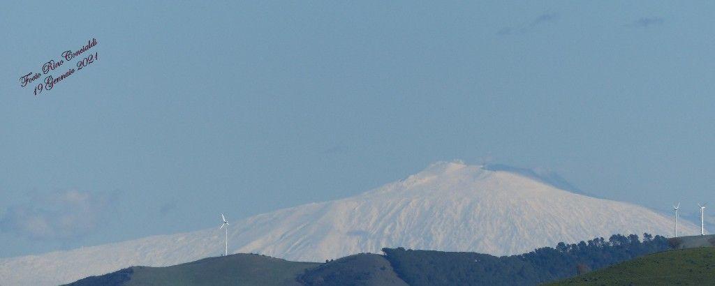 L`Etna a Gennaio 2021