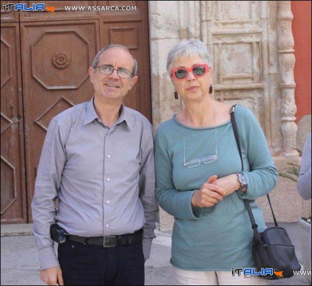 OTTAVIA PICCOLO CON IL PRESIDENTE DI SICILIANTICA DELLA SEDE DI CIMINNA