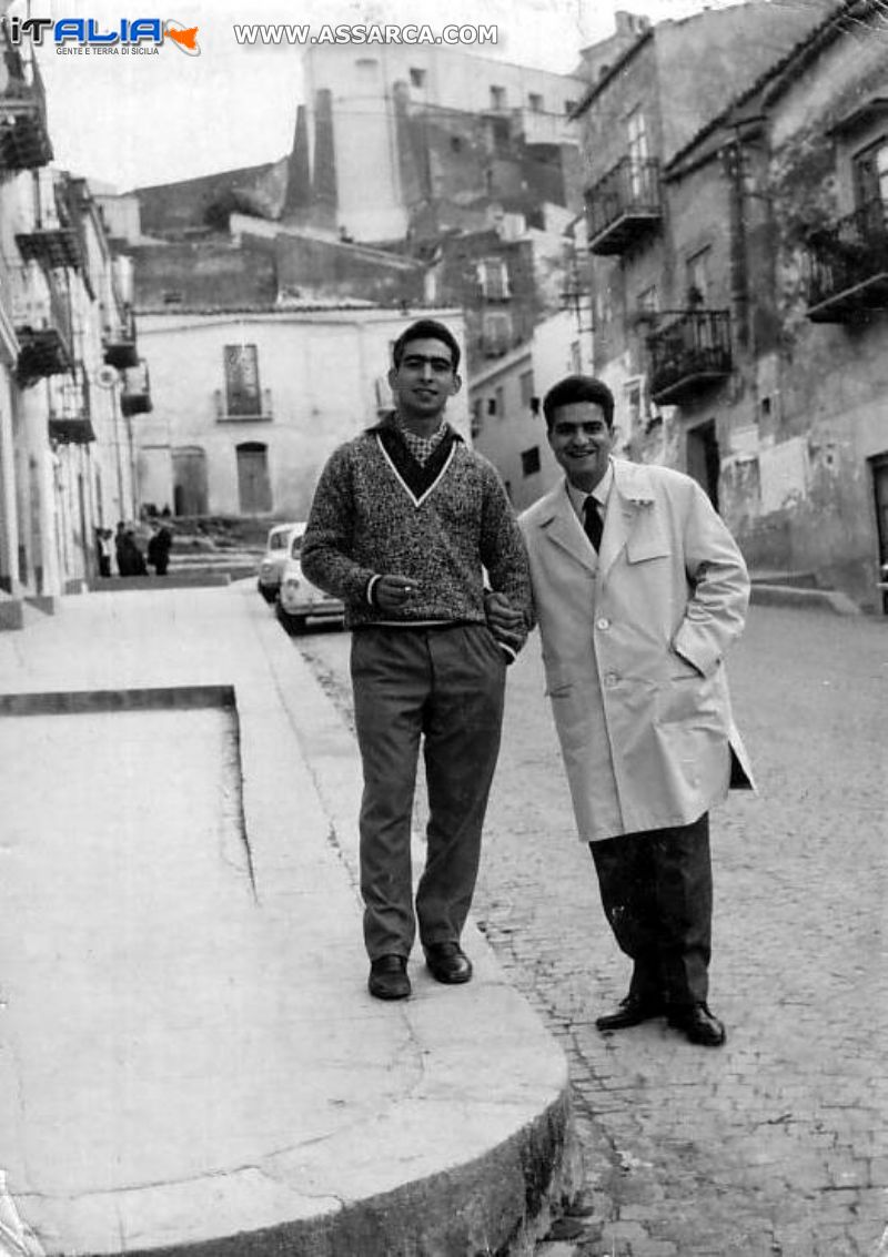 Lino Seragusa con l`amico Todaro