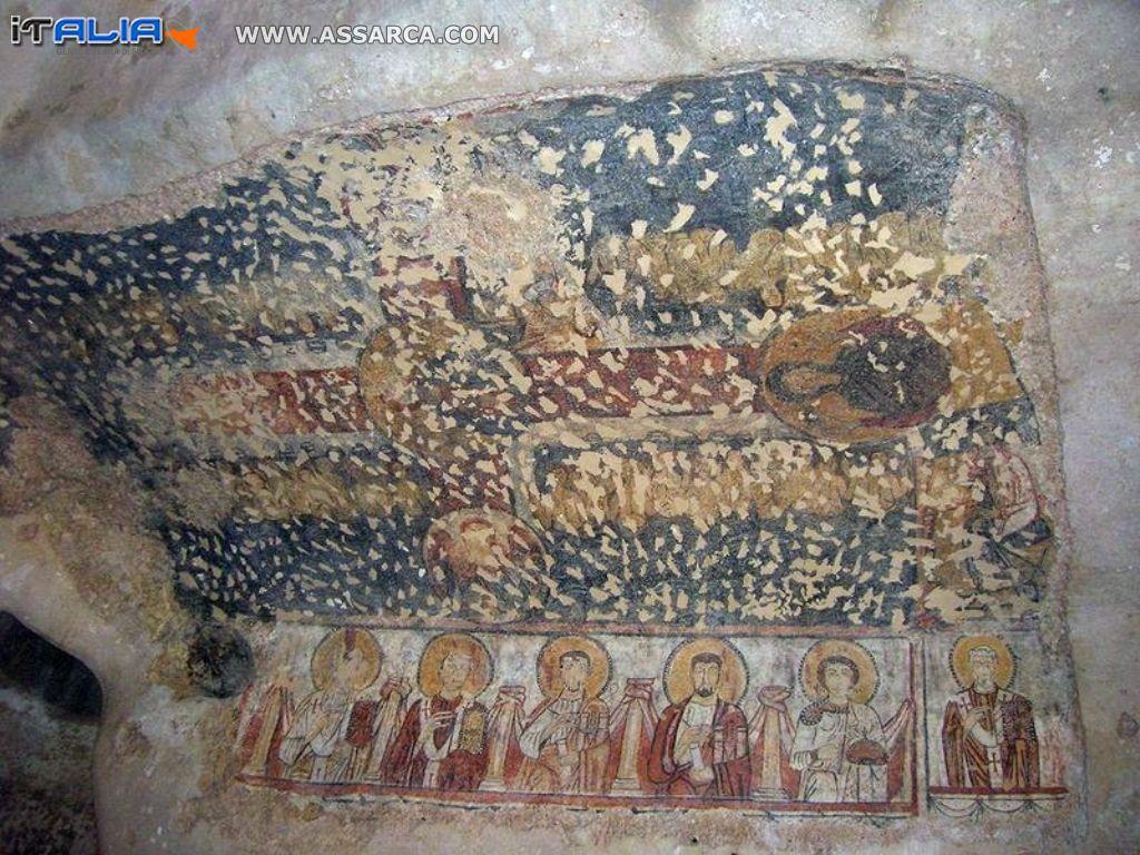 Siracusa affreschi nelle catacombe di Santa Lucia