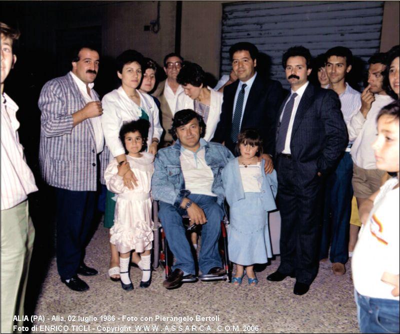 Alia, 02 luglio 1986 - Foto con Pierangelo Bertoli
