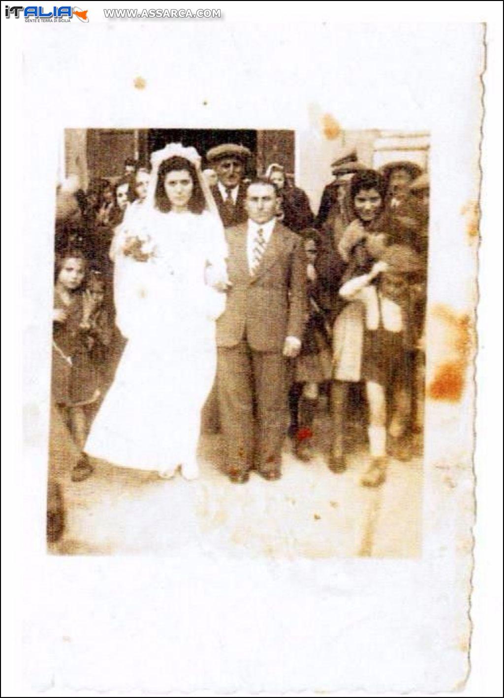 Sposi Cardinale Cocchiara 1948
