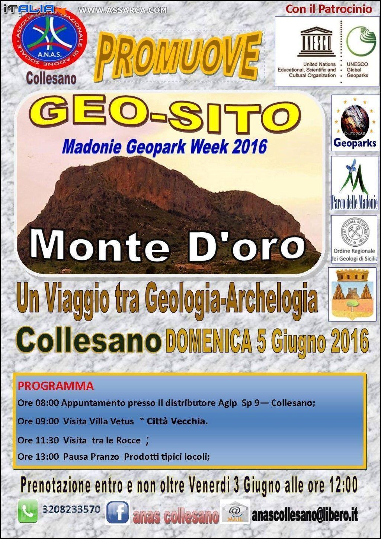 GEO-SITO MONTE D ORO MADONIE GEOPARK WEEK 2016 DOMENICA 5 GIUGNO 2016 COLLESANO