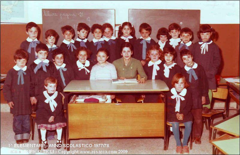 1^ Elementare - Anno scolastico 1977/78