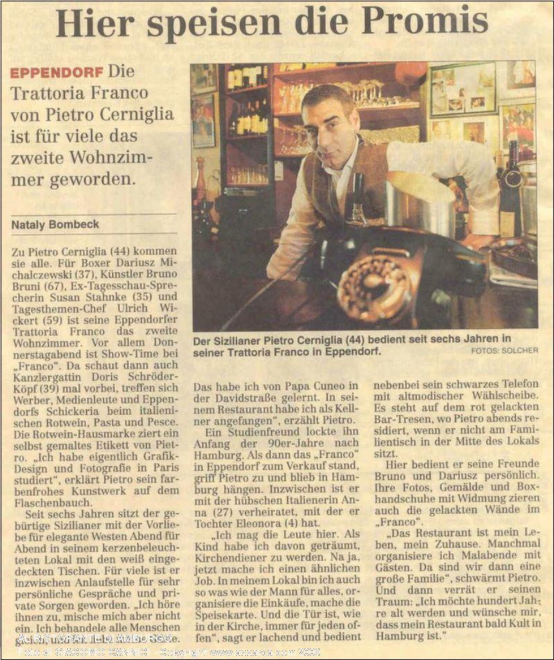 Al ristorante di Amburgo