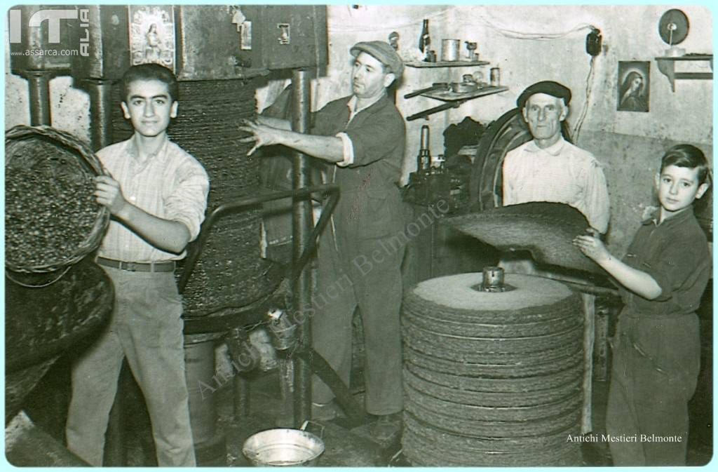 MESTIERI ARTIGIANALI - TRAPPETO MARTORANA  ANNI 1950/60